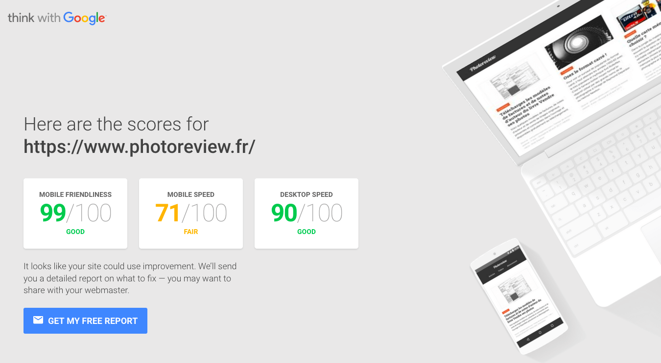Index Mobile First outil Google