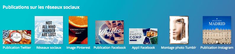 Canva publications réseaux sociaux
