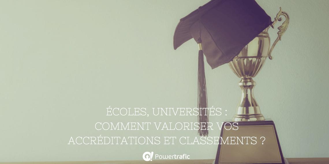 Écoles, universités : comment valoriser vos accréditations et classements ?