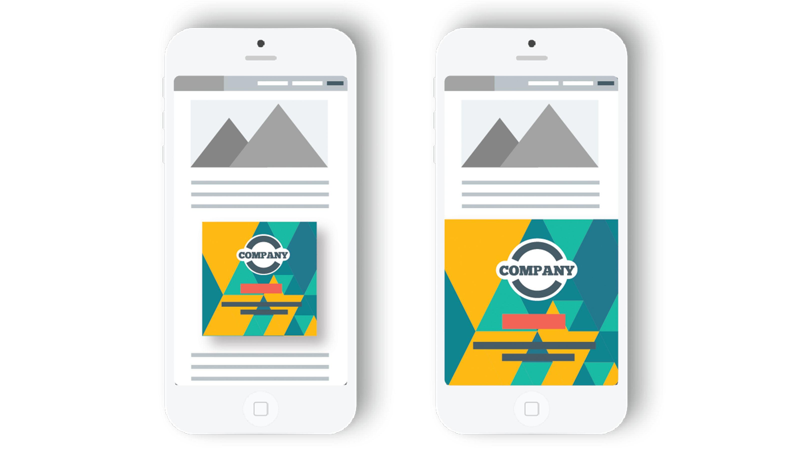 Publicité InLine sur mobile