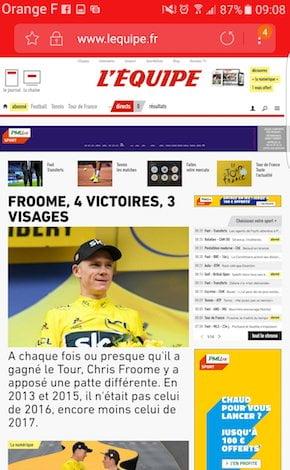 Site mobile et Progressive Web App de L'Équipe