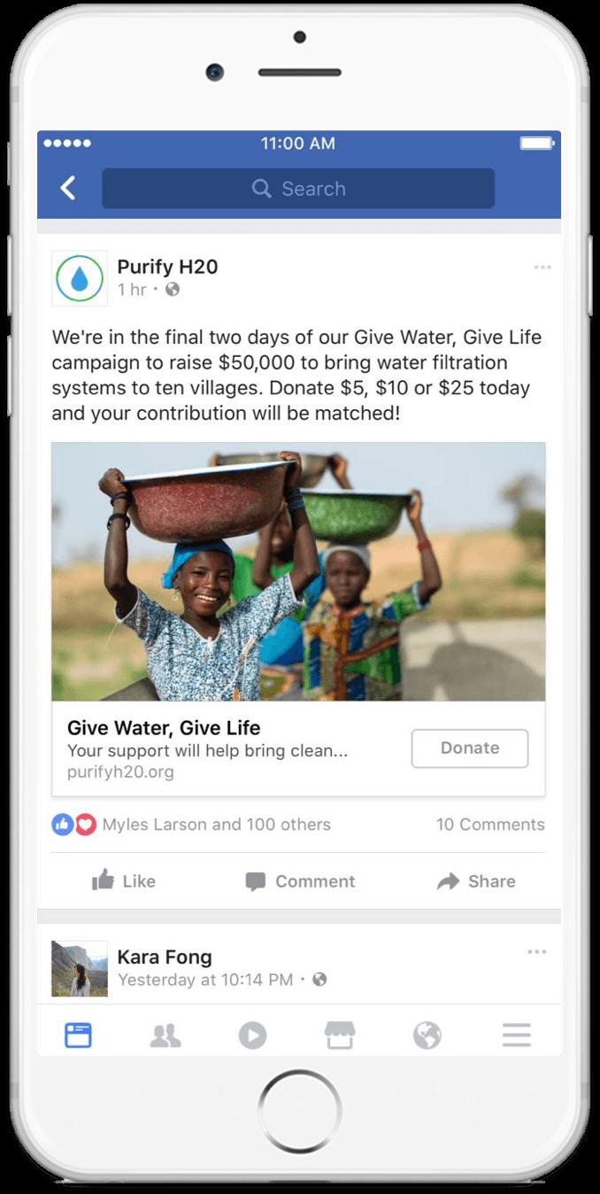 Page Facebook : collectez des dons facilement pour votre association