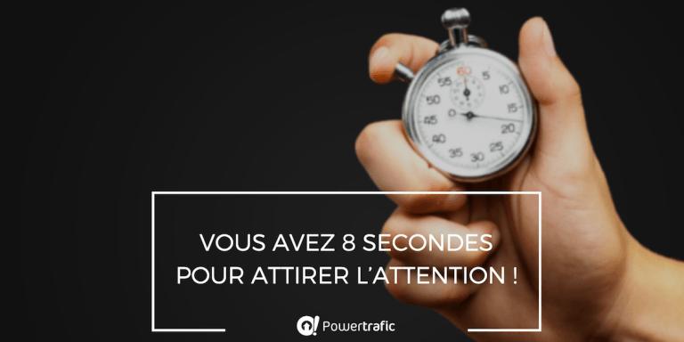 Publication et campagne publicitaire : 8 secondes pour attirer l'attention