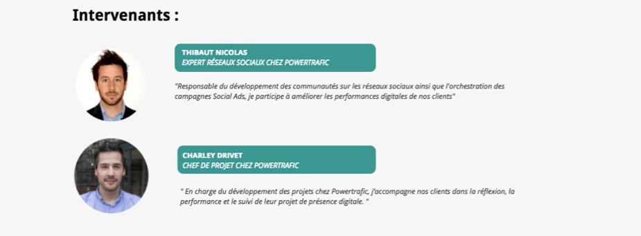 Intervenants webinaire : stratégie digitale et référencement des agences de voyage