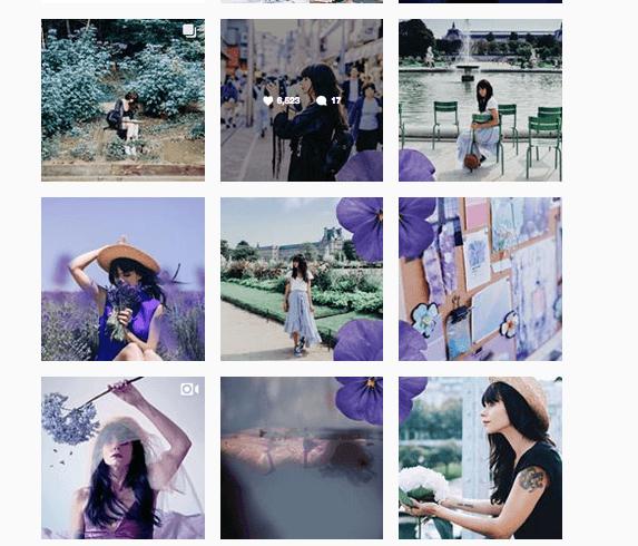 Exemple d'identité visuelle sur Instagram