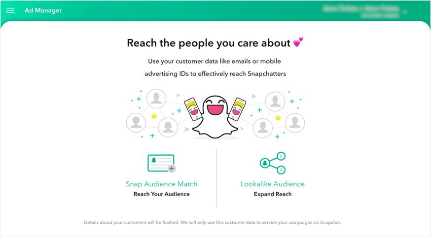 Régie publicitaire de Snapchat : Snapchat Ad Manager
