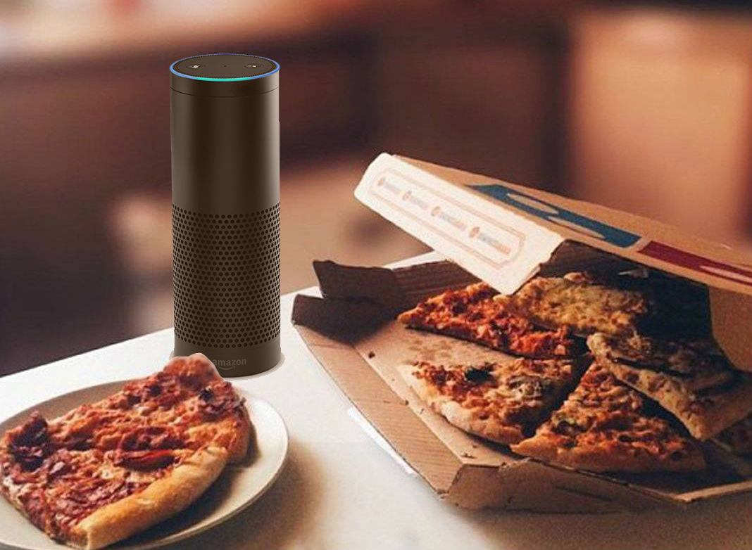 E-commerce : utilisation amazon-echo par Dominos
