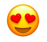 Emoji cœurs dans les yeux