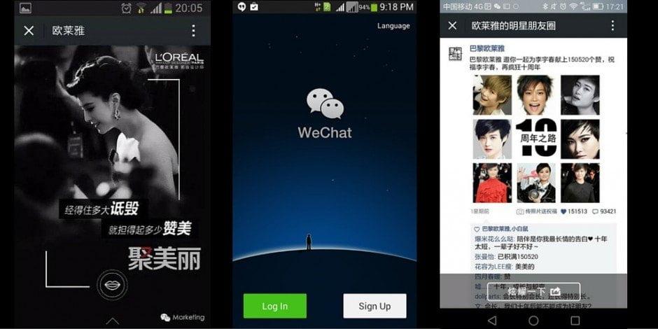 L'Oréal Paris sur le réseau social chinois WeChat