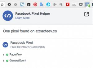 Vérifier l'installation du pixel Facebook
