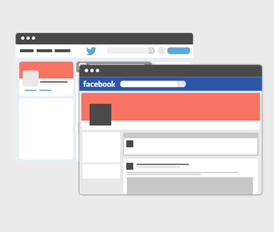 Habillage des réseaux sociaux