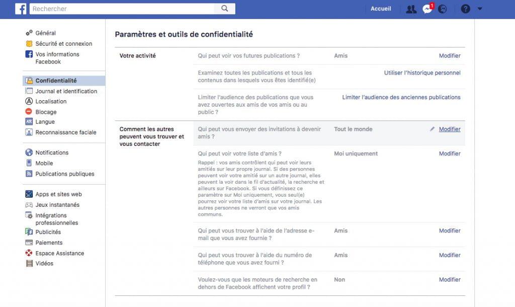 Paramètres de sécurité Facebook pour protéger vos données