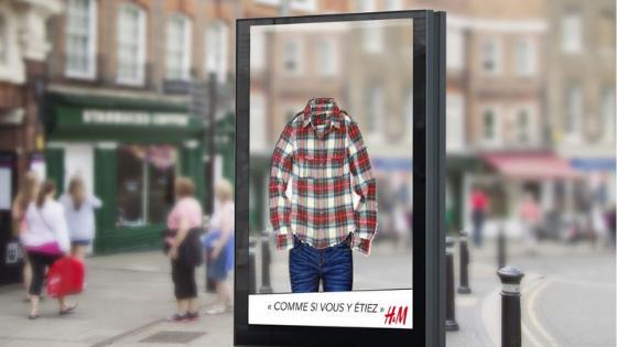 Street marketing réalisé par H&M en réalité augmentée