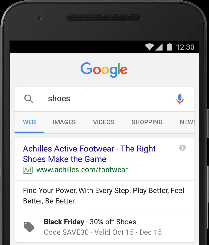 Visuel d'une annonce Facebook Ads avec le Black Friday