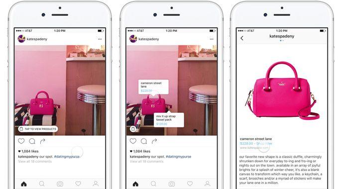 Opération de social commerce sur Instagram
