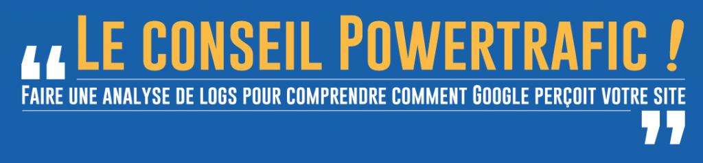 Conseil Powertrafic : Faire une analyse de logs