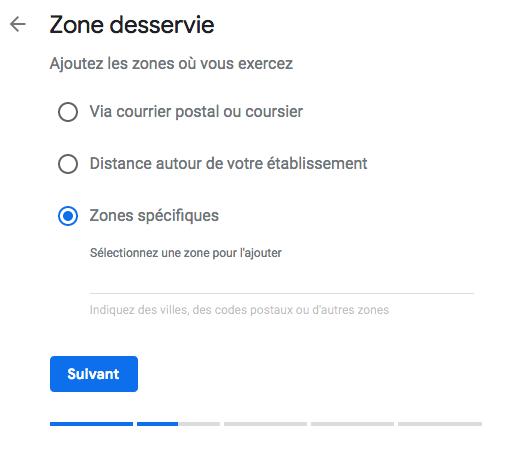 Ajouter des zones desservie sur son compte Google My Business