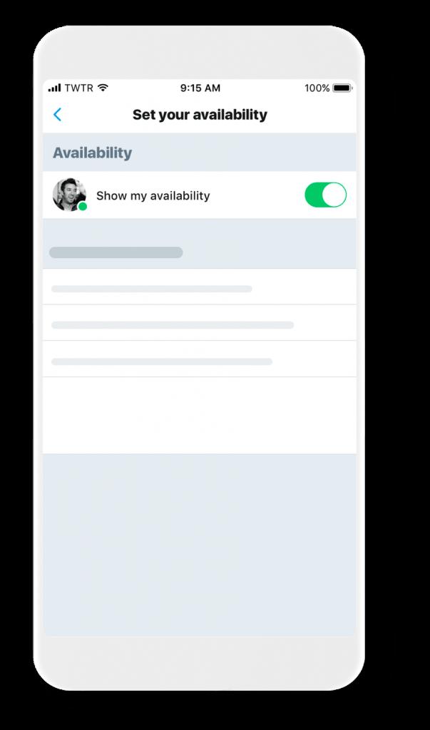 Twitter nous présente l'interface du programme de test des prochaines fonctionnalités : l'indicateur de présence en ligne