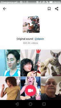 Interface de TikTok, le nouveau réseau social en vogue chez les adolescents