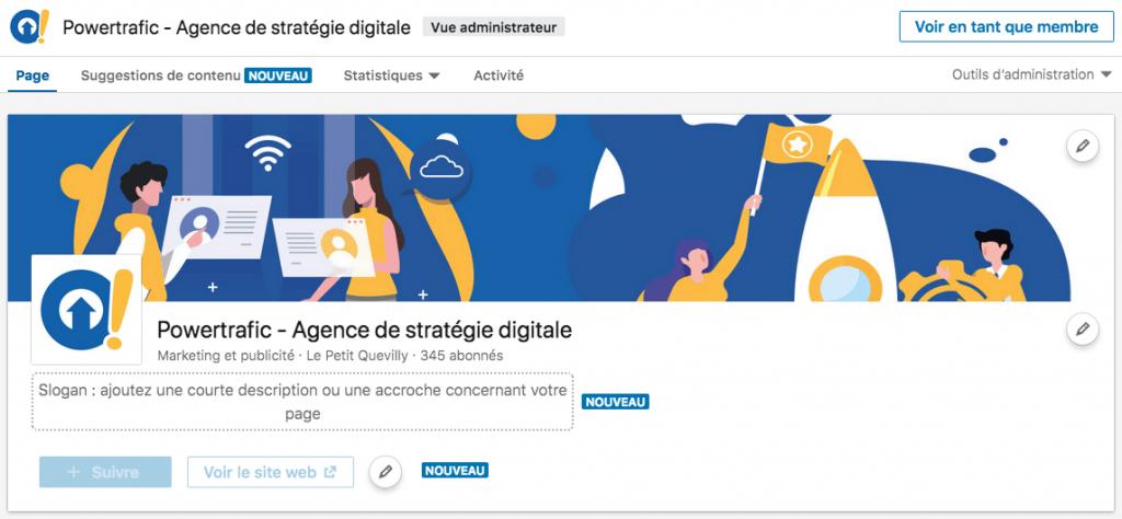 LinkedIn propose une nouvelle interface des pages entreprise