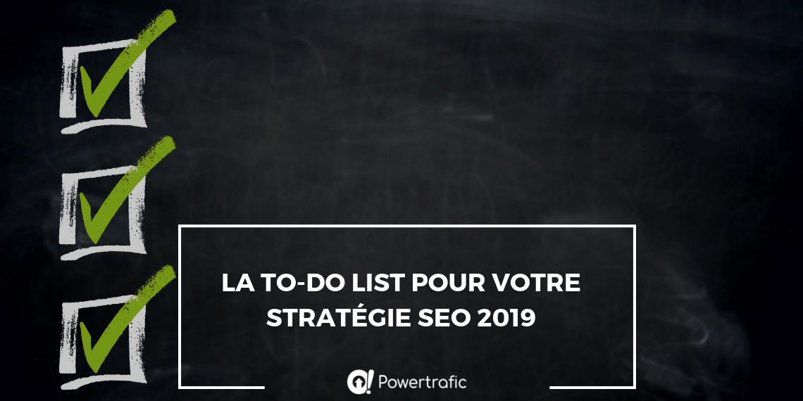[Infographie] La to-do list de 2019 pour optimiser le SEO de votre site