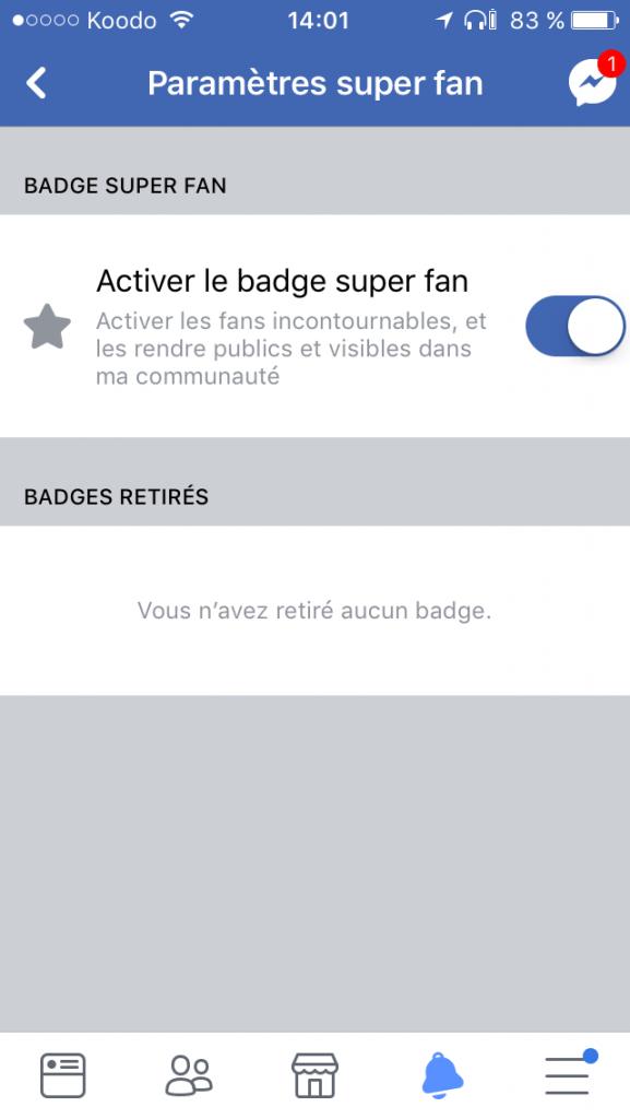 Comment activer le badge super fan sur Facebook ?