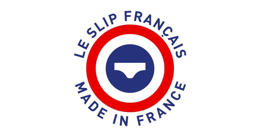 Le Slip Français arobore les couleurs de la France sur son logo