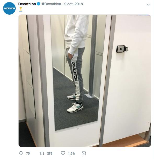 Twitter : communication d'octobre sur la réédition du jogging