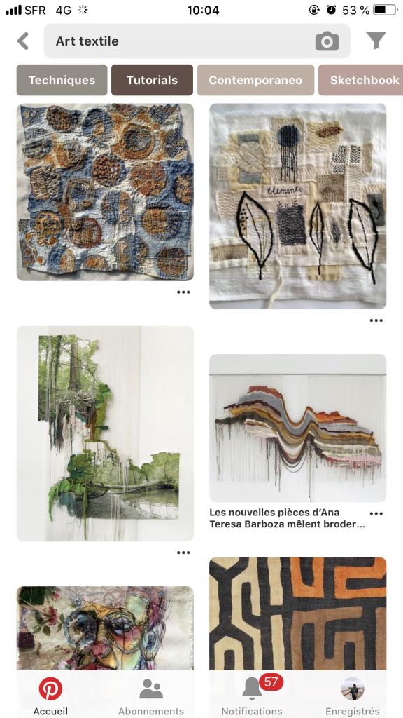 Côté décoration sur Pinterest, la tendance est à l'art textile