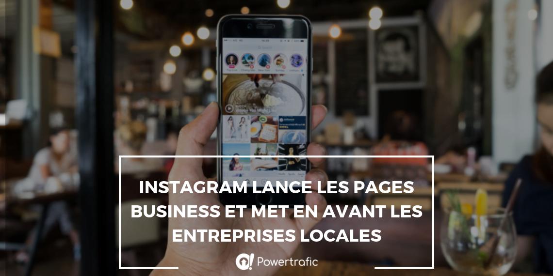 Instagram lance les pages business pour mettre en avant les entreprises locales