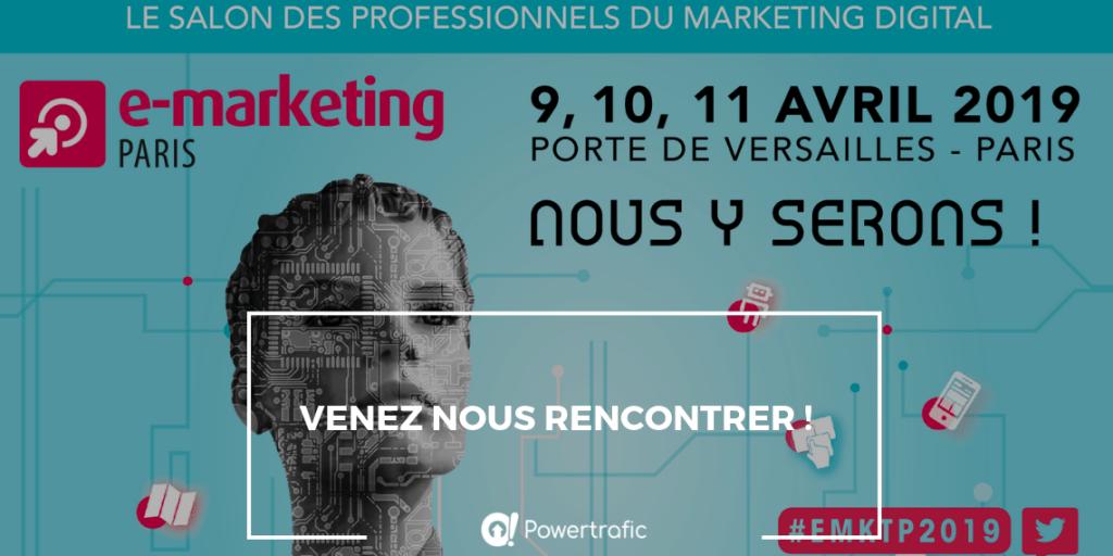 Salon e-marketing 2019 : retrouvez-nous sur le stand E26