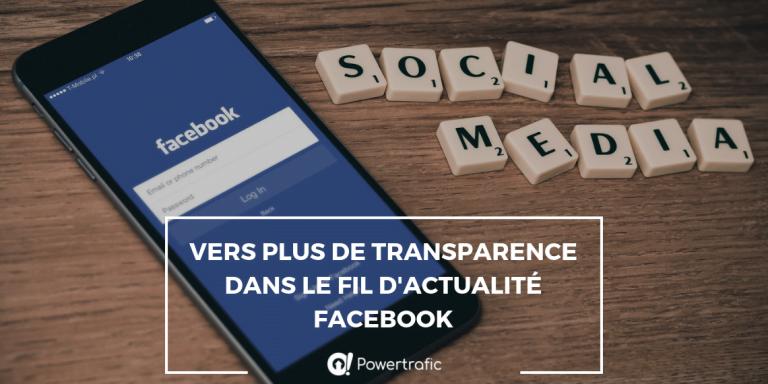 Vers plus de transparence dans le fil d'actualité Facebook