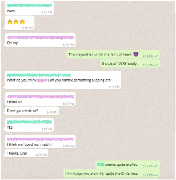 L'entreprise Agent Provocateur utilise Whats App pour entretenir sa relation avec ses clients les plus fidèles