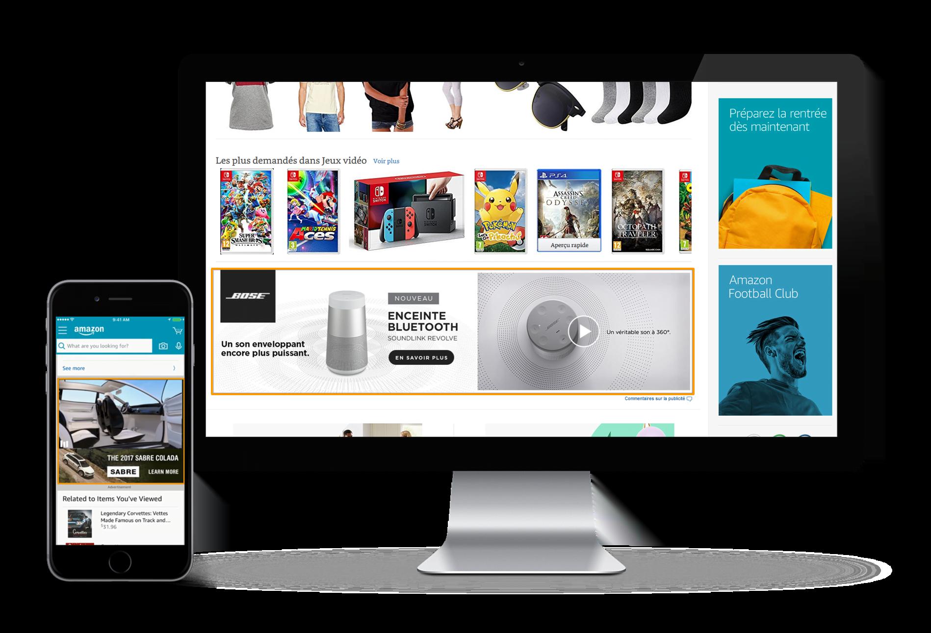 Publicités vidéo sur Amazon Advertising