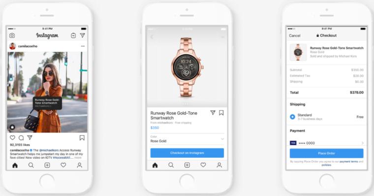 Interface des étapes pour utilser Instagram Shopping