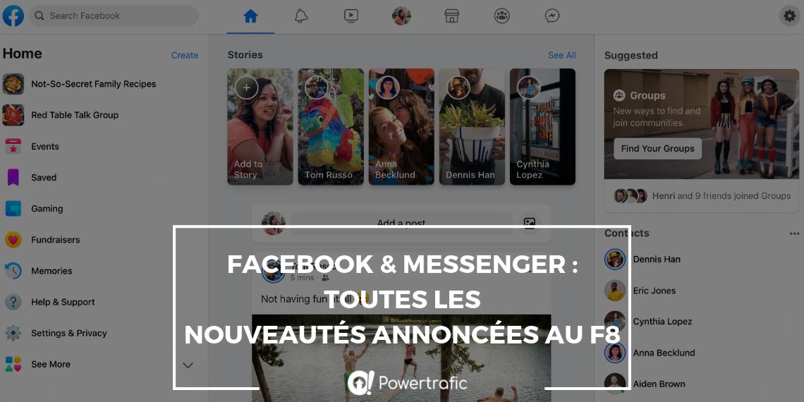 Conférence F8 de Facebook : quelles sont les nouveautés du réseau social et de Messenger ?