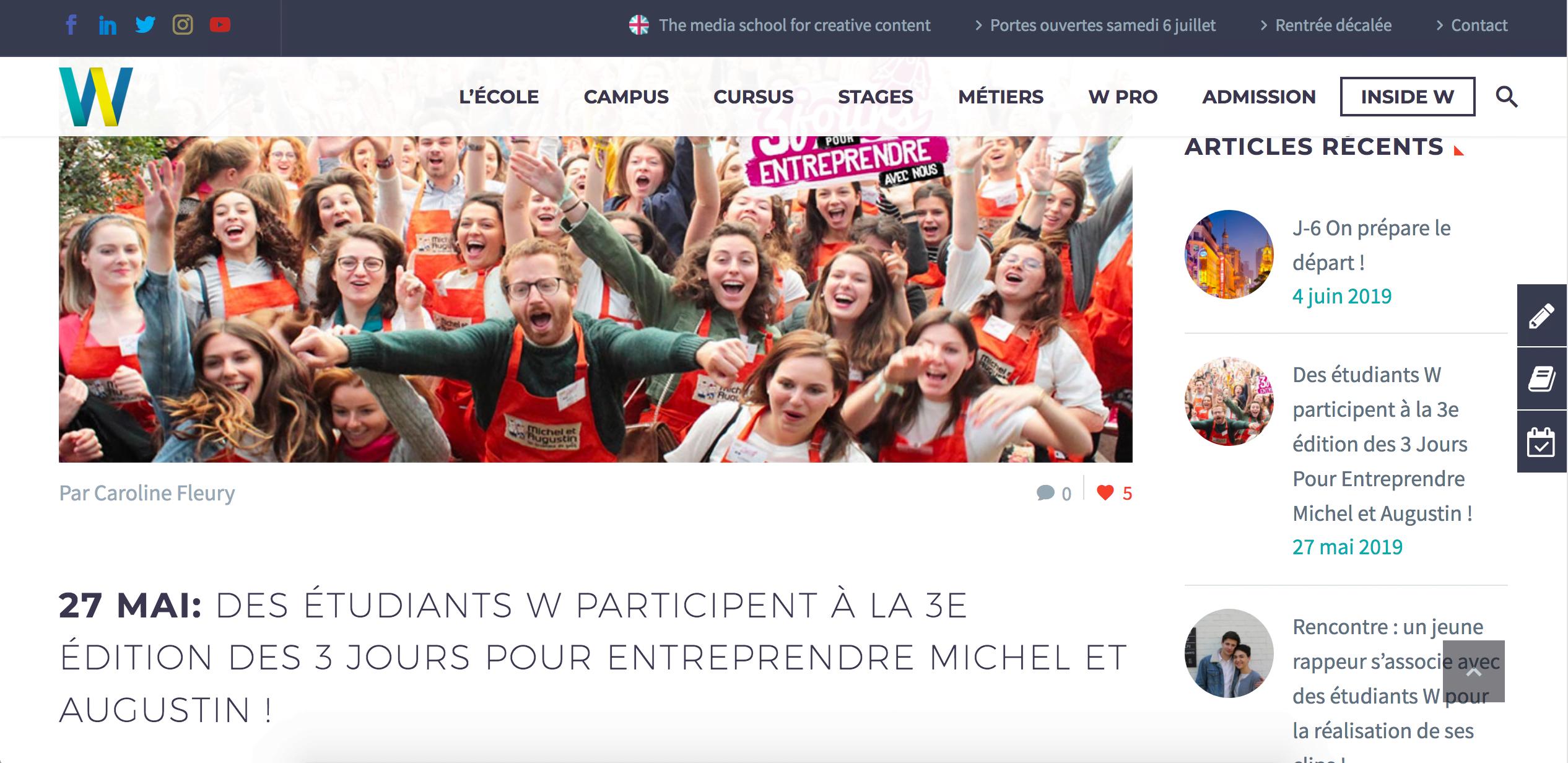 Le blog de l'École W