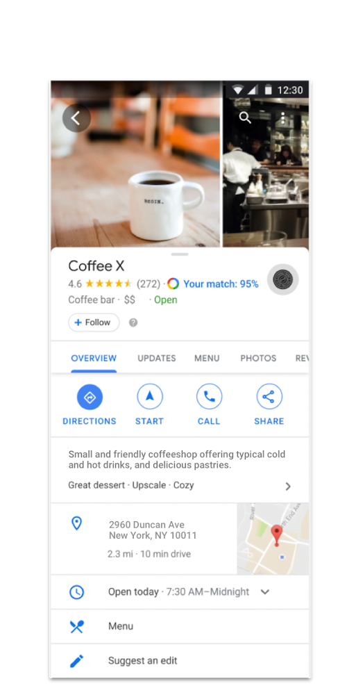 Nouvelle interface de Google My Business