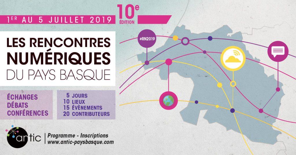 Le bandeau de l'événement Les Rencontres du Numérique