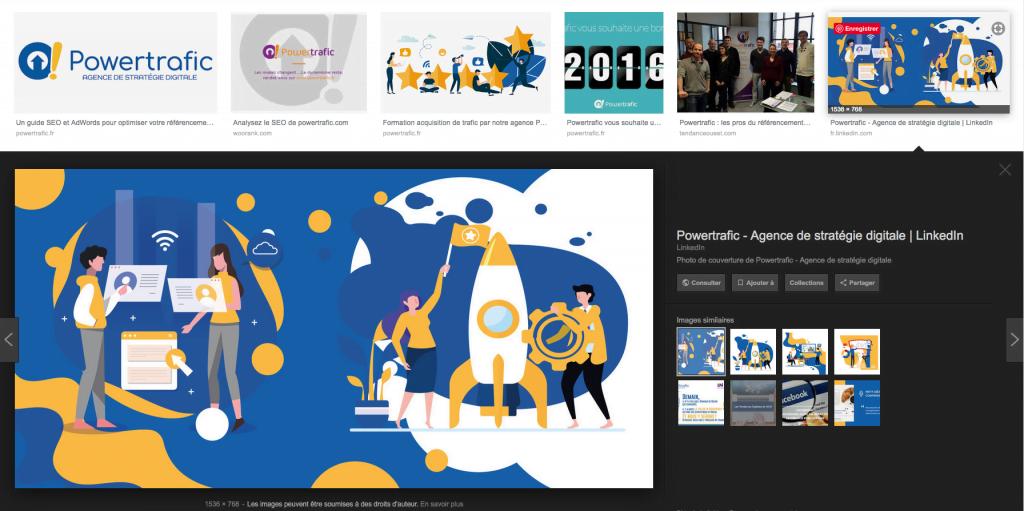Interface de Google Images