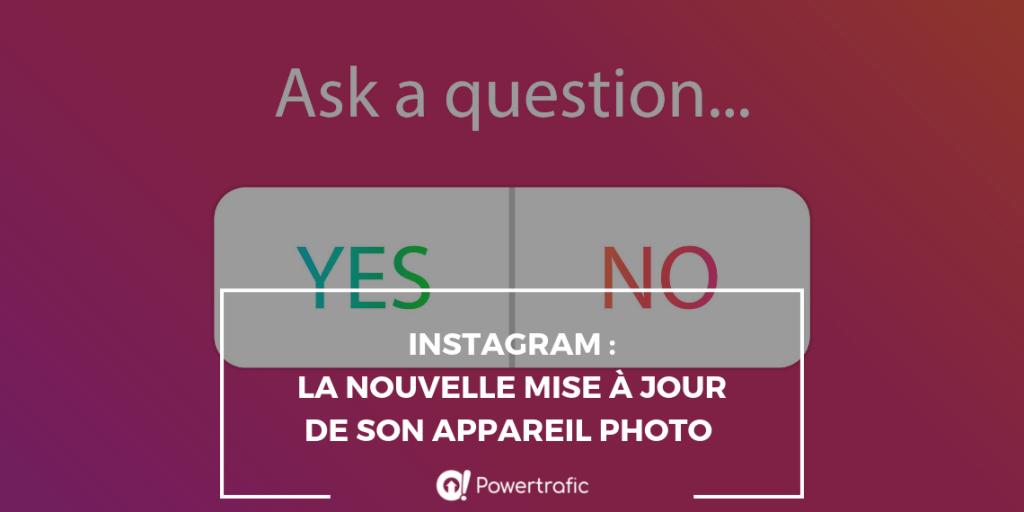 Instagram et son nouvel appareil photo
