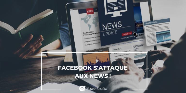 Facebook s'attaque aux news