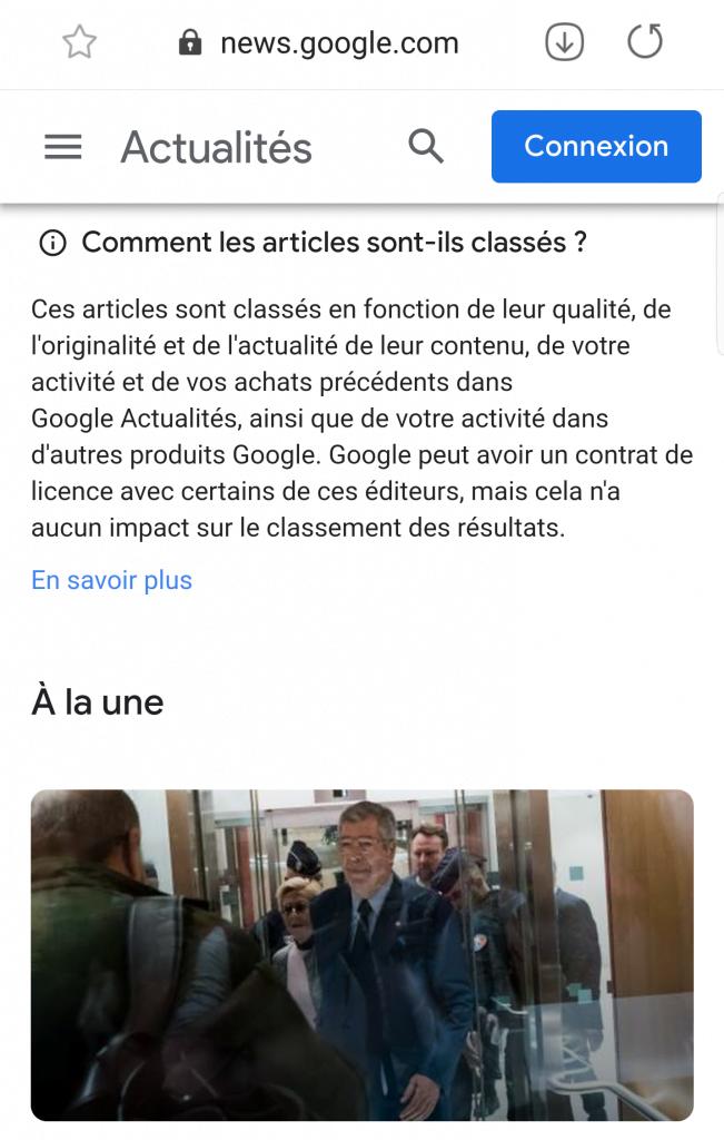 Google Actualités contenus originaux maj google