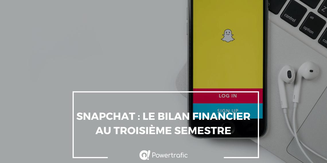 Snapchat : le bilan financier au troisème semestre