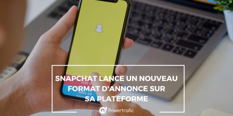 Snapchat lance un nouveau format d'annonce sur sa plateforme