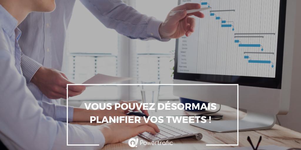 Vous pouvez désormais planifier vos tweets