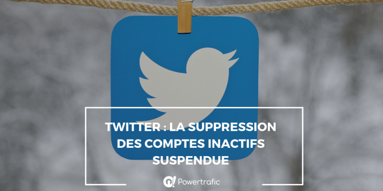 Twitter : la supression des comptes inactifs suspendue
