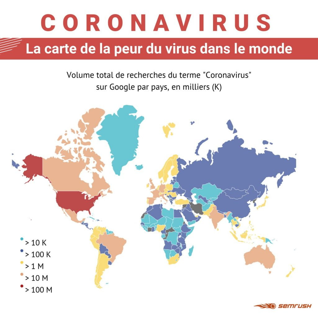 coronavirus semrush carte