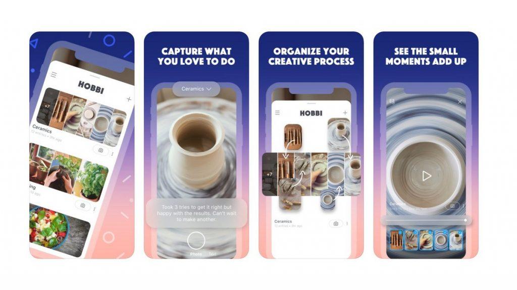interface de l'application Hobbi