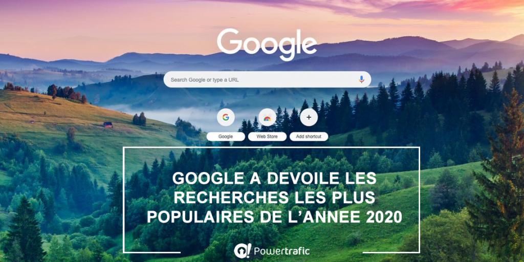 Google Trends : les recherches les plus populaires de l'année 2020